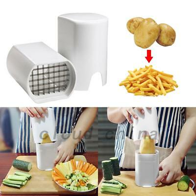 French Fry Potato Chip Cut Cutter Maker Vegetable Fruit Peelers Slicer Tool AU