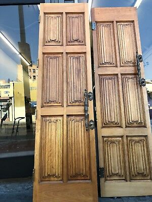 Carved Wood Ribbon Door 90x24""