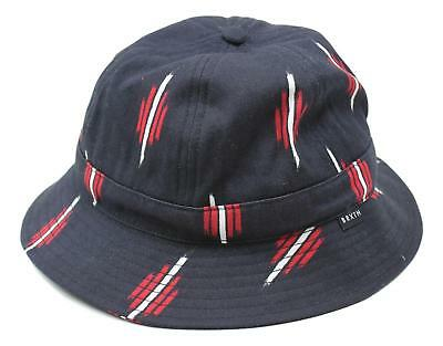465b459146e BRIXTON UNISEX HARDY Bucket Hat Sun Hat Red Navy Size M New -  29.99 ...