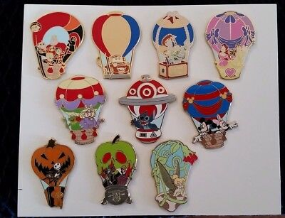 Disney DLR WDW 2008 Hot Air Balloon Mystery Box 10 Pin Set Rare Incredibles
