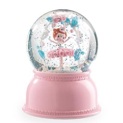 NEW Djeco Night Light Snowglobe - Ballerina - Colour changing light