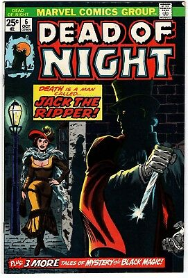 Dead of Night  #6 Jack the Ripper  Marvel 1974 VF