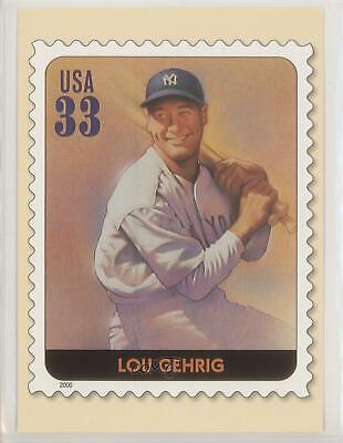 2000 USPS Legends of Baseball All Century Team Postcards Lou Gehrig Card