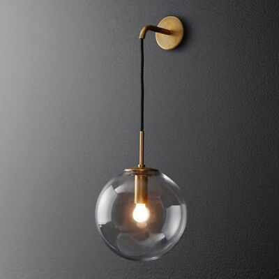 Mid-Century Modern Style Wall Light Vintage Industrial Globe Glass Wall Sconce