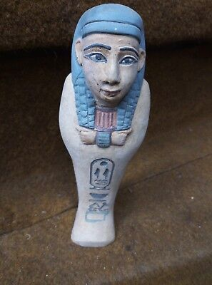 RARE EGYPTIAN ANTIQUE ANCIENT Egypt Queen Shabti Ushabti Statue 1630 Bc