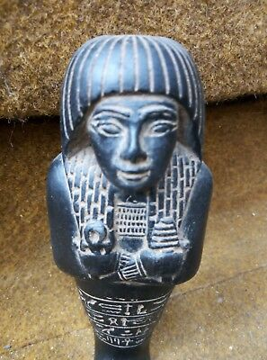 RARE ANCIENT EGYPTIAN USHABTI Shabti Statue Faience Figure Tomb King 1500 Bc