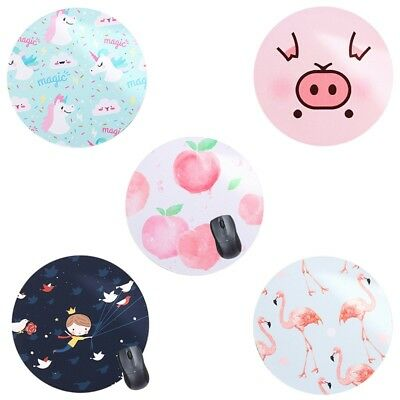 Cute Round Cartoon Unicorn Soft Rubber Mouse Pads Laptop Computer Mouse Pads