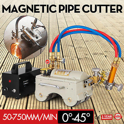 CG2-11 AG Automatic Magnetic Pipe Cutting Beveling Machine Torch Track Cutter