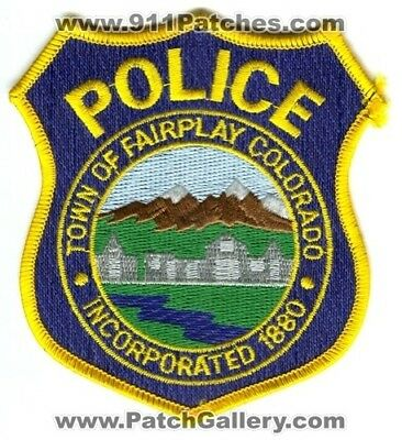 Town Of Fairplay Police Department Patch Colorado Co Dept. 1880 Sheriffs Office