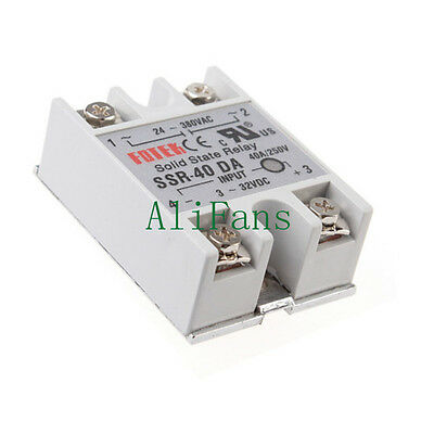 24V-380V 40A 250V SSR-40 DA Solid State Relay Module For Arduino 3-32V DC To AC