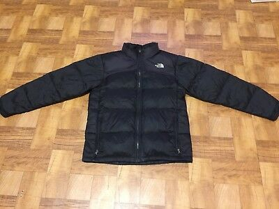 The North Face 550 Down Quilted Winter Jacket Coat Boys Large 14-16 Puffer Black