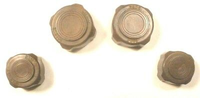 vIntage  SILVERTONE  TABLE MODEL 6022 RADIO: Set of 4 BAKELITE KNOBS w/ printing