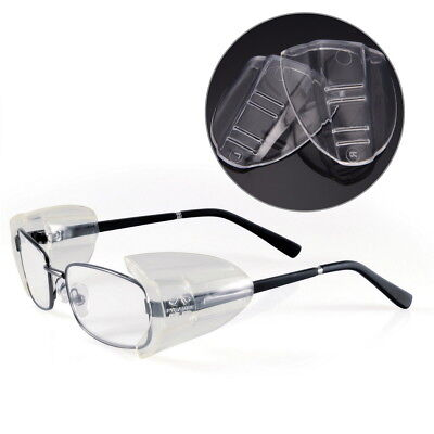 4 X Clear Universal Flexible Safety Side Shields Eye Protection Glasses Pyramex