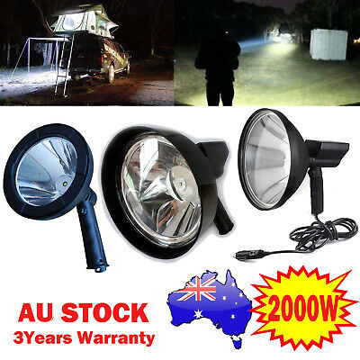 2000W CREE Handheld Spot Light Rechargeable LED Spotlight Hunting Shooting 12V