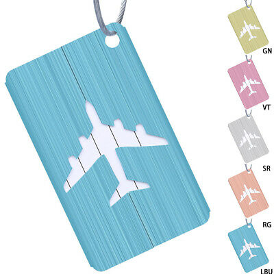 2 Travel Aluminium Plane Luggage Tags Suitcase Label Name Address ID Baggage Tag
