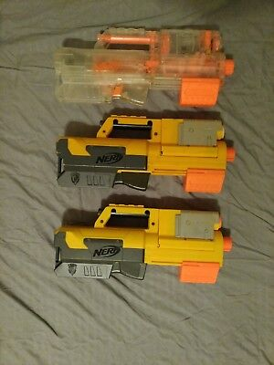3 Nerf n-strike deploy cs-6 lot of clear and original