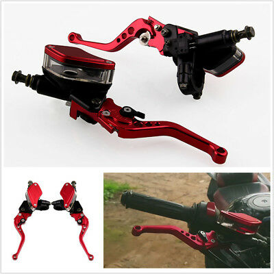 "7/8"" 22mm Dual Hydraulic Front Brake Master Cylinder & Clutch Adjustable Levers"