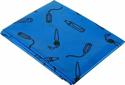 Childrens Arts and Crafts Splashmat Table Cover Blue Messy Mat ( 1.5m x 1.5m)