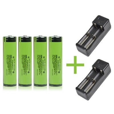 Panasonic NCR18650B 3400mAh Protected Li-ion Battery with Charger & Free Case