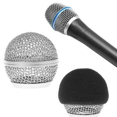 Replacement Ball Head Mesh Microphone Grille For Shure BETA58 BETA58A SM58 SM58S