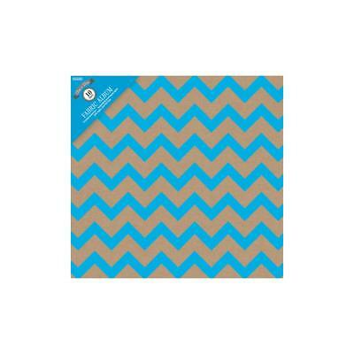 Scrapbooking Album Craft Chevron Blue  12x12 inch