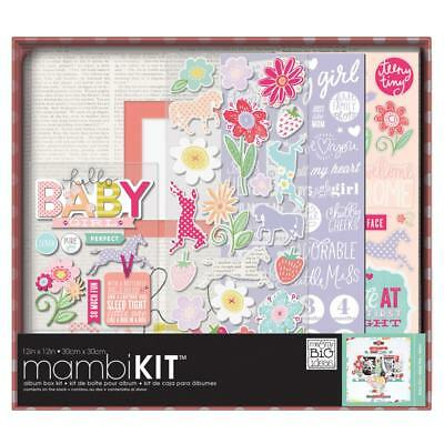 Mambi Scrapbooking Album Box Kit 12x12 inch Baby Girl