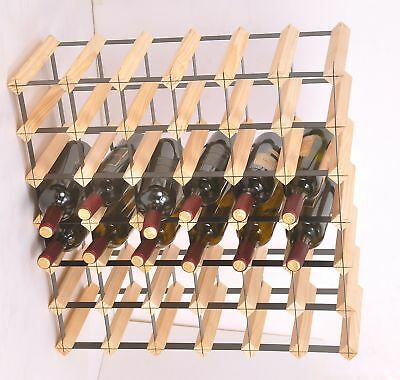 42 Bottle Timber Wine Rack - Complete Wooden Wine Storage System For Home Bar