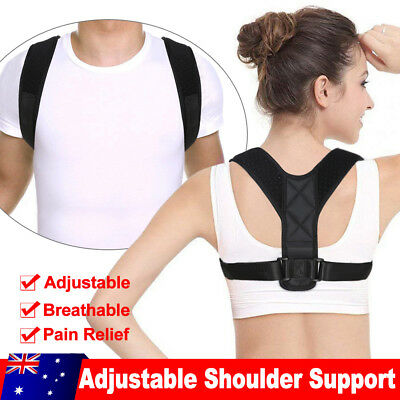 Adjustable Posture Clavicle Corrector Support Back Straight Shoulder Brace Strap