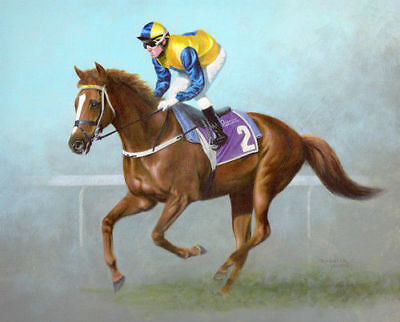 ZOPT98 100% hand painted racehorse horse race ART OIL PAINTING ON CANVAS