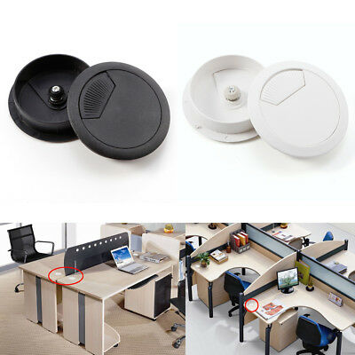 10 Computer Desk Table Grommet Hole Port Cover Cable Wire Tidy Home Office