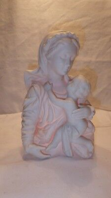 Madonna with Child Lamp Holy Mother Virgin Mary Baby Jesus Vintage Made in Japan