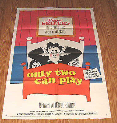 ONLY TWO CAN PLAY  '62 PETER SELLERS Official Movie Poster