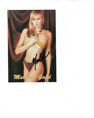 MELANIE GOOD autographed 4x6 color photo          SEXY ACTRESS FROM HOWARD STERN