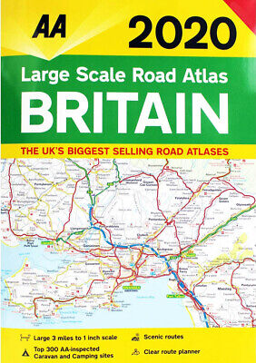 AA Large Scale Road Atlas Map Britain 2019 Latest Edition (79609)