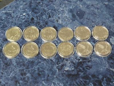 Lot of 12 1 oz Canadian Wildlife Silver 5 Dollar Coins (2011-2015) 9999 Silver