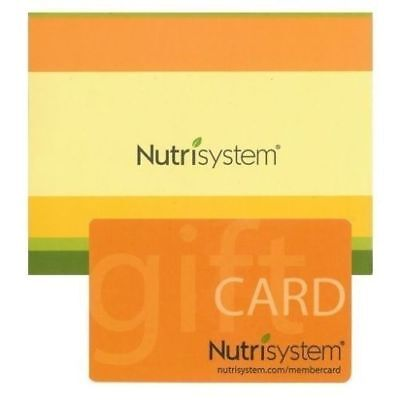 $500 Nutrisystem Success Gift Card No Expiration Fast Shipping