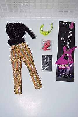 Integrity Jem holograms doll Misfits ROXY Outfit Guitar Shoes NEW color infusion