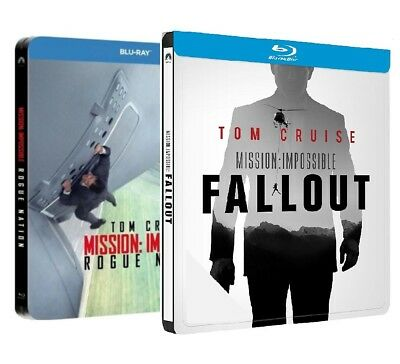Mission Impossible Fallout + Rogue Nation - 2 Box Steelbook (3 Blu-Ray)