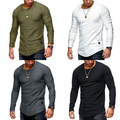 Thermal Men's Slim Fit O Neck Long Sleeve Muscle Tee T-shirt Tops Blouse Casual