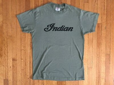 VINTAGE INDIAN MOTORCYCLES 70s 80s T-SHIRT MEN SZ S PAPER THIN HARLEY DAVIDSON