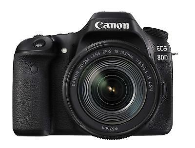 Canon Digital SLR Camera EOS 80D Lens Kit EF-S18-135mm F3.5-5.6 IS USM EMS W/T