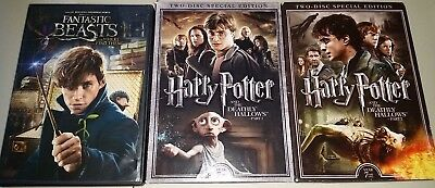 Fantastic Beasts & Where to Find Them + Harry Potter Deathly Hallows Pt 1/2 DVD