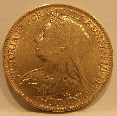 Great Britain 1897 Gold 1/2 Sovereign XF Victoria