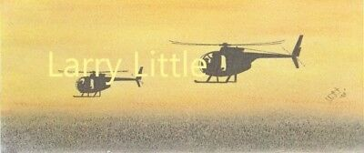 """Vietnam Helicopter 6"""" X 14"""" Color Artwork Prints (Your Choice of One-Print)"""