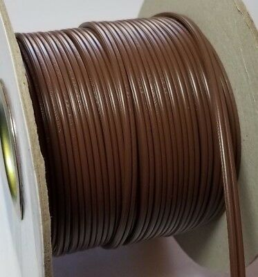 Brown Electrical Lamp Cord SPT-1 #18-TWO Strand Wire 300V BULK 6-14FT Light