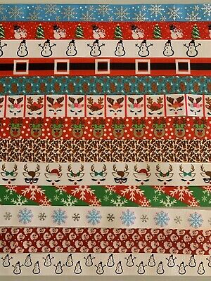Lanyard - Christmas Reindeers Santa Snowman Snowflakes - With Safety Clip