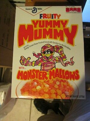 Retro 1970 Fruity Yummy Mummy Brute Monster Cereal Box Target Exclusive 2013 New