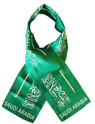 "Saudi Arabia Country Lightweight Flag Printed Knitted Style Scarf 8""x60"""