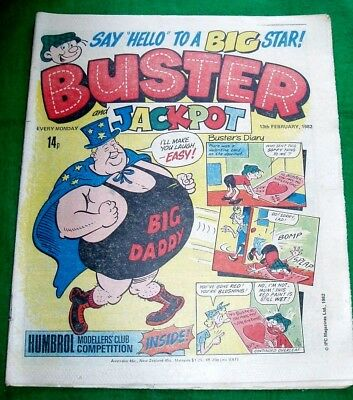 Big Daddy Wrestling Legend  First Appearance  In Buster  Comic  1982