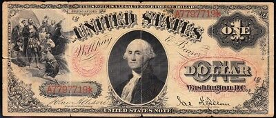 "Affordable *RARE* $1 1878 US Note! Pink ""FLORAL SEAL""! FREE SHIPPING! A7797719"